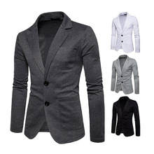 New Fashion Men Two Button Pocket Casual Blazer Jacket Autumn and Wint