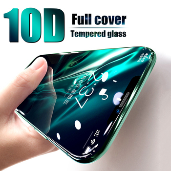 10D Curved Full Cover Tempered Glass on the For iPhone X XS Max XR 11 Pro Screen Protector Glass For iPhone 7 8 6 6s Plus Film