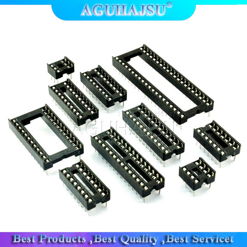 10PCS IC <font><b>Sockets</b></font> DIP6 DIP8 DIP14 DIP16 DIP18 DIP20 DIP28 DIP40 pins Connector <font><b>DIP</b></font> <font><b>Socket</b></font> 6 8 14 16 18 20 24 <font><b>28</b></font> 40 pin image