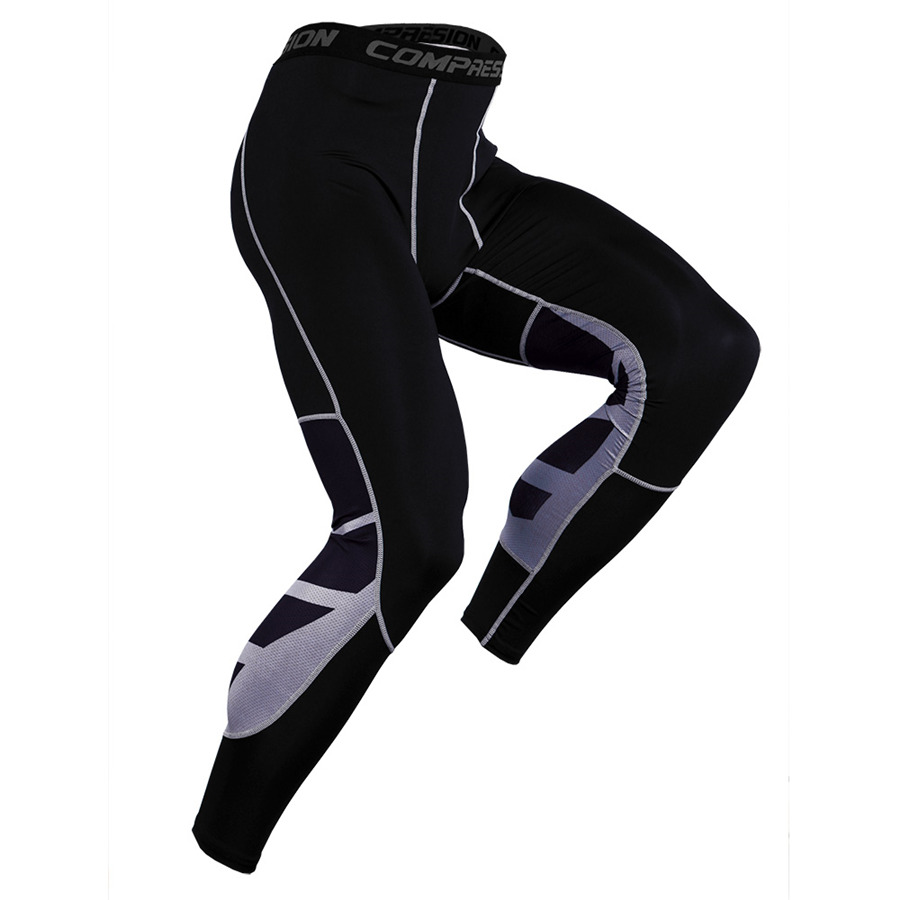 Men/'s Compression 3//4 Sports Tights Workout Fitness Gym Training Pants Dri fit