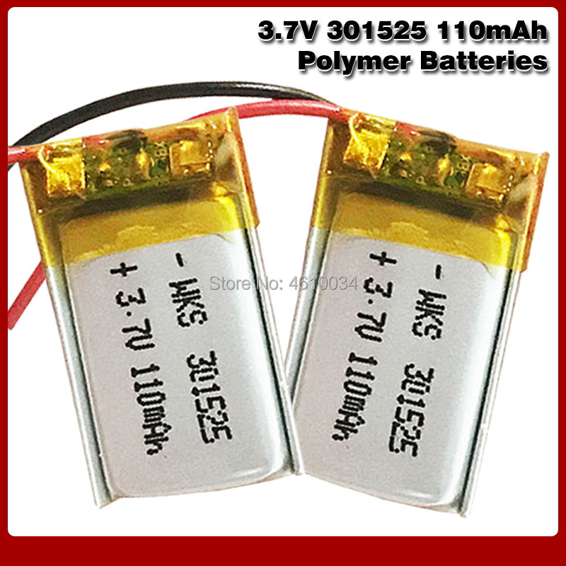 3.7V Lipo cells <font><b>301525</b></font> 110mah Lithium Polymer Rechargeable Battery For Reading pen Smart bracelet Bluetooth headset MP3 MP4 MP5 image