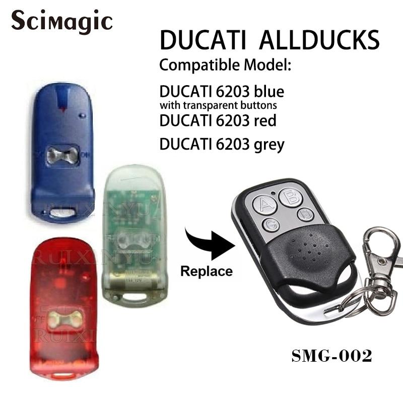 DUCATI ALLDUCKS HC6203 Garage Door Opener 433.92mhz Remote Control Duplicator Fixed Code Command Remote Transmitter
