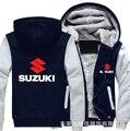 2020nova alta qualidade suzuki hoodies jaqueta de inverno dos homens moda casual lã forro moletom lã pulôver homem casaco