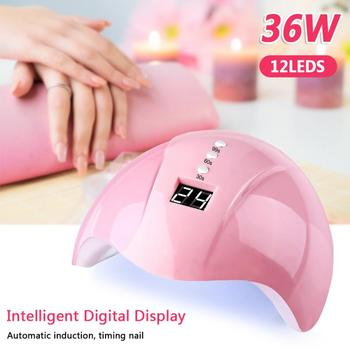 цена на 36W Professional Pink LED Nail Lamp High Power UV Nail Gel Dryer Lamp USB Interface Intelligent Induction Nail Care Tool