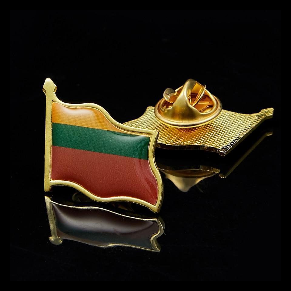 ليتوانيا تحصيل دبوس معدني شارة العلم للملابس طية صدر السترة زخرفة