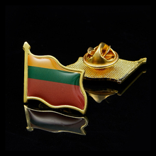 Lithuania Collectible Metal Pin Flag Badge for Clothing Lapel Ornament 5 pieces sweden collectible metal pin united nations flag badge for clothing lapel ornament