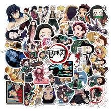 50pcs Demon Slayer: Kimetsu No Yaiba Anime Sticker Stickers PVC Graffiti Stickers Suitcase Luggage Guitar for Children's Toys