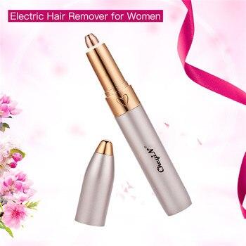 CkeyiN Eyebrow Pencil Trimmer Makeup Painless Eye Brow Epilator Mini Shaver Razors Portable Facial Hair Remover Women depilator