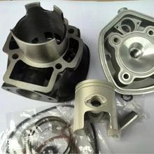 Cylinder kit 47mm PGO NRG 70cc big bore with water cooling 2 stroke engine parts athena 072900 47mm diameter aluminum 70cc sport cylinder kit
