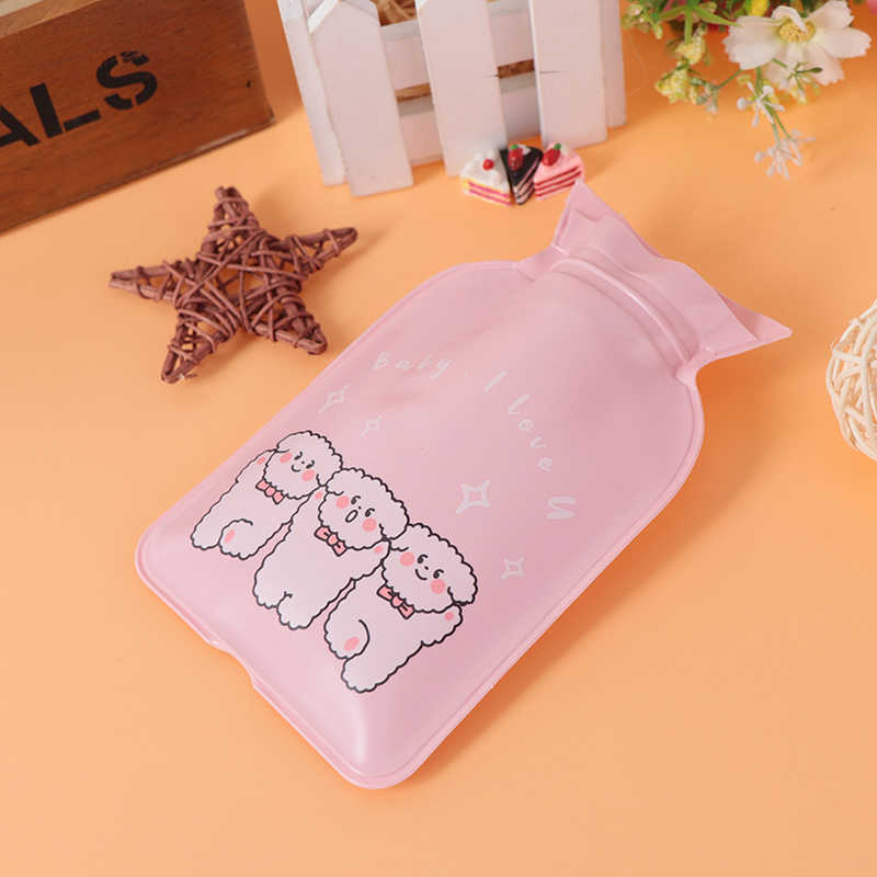 صغيرة صغيرة الكرتون المحمولة كيس الماء الساخن حقن المياه حقيبة التخزين لطيف زجاجات مياه ساخنة اليد زجاجة ماء دافئ