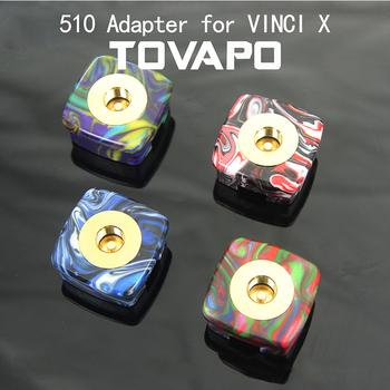 New arrival elektroniczny Adapter papierosów TOVAPO 510 Adapter dla VINCI VINCI X RDA RTA RDTA elektroniczne papierosy wątku tanie i dobre opinie G-TASTE Metal for RPM VINCI Vinci X Blue Green Red Black White 1pcs pack