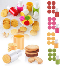 6 Pcs Silicone Cookie Stamps Set Safe Cookie Cutter Party Novelty Gift Christmas Snowflake Pattern Kitchen Cake Decorating Tools