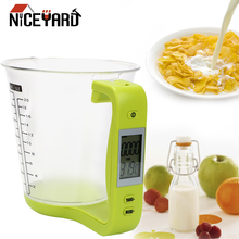 Measurement Cups Electronic-Tool Beaker Kitchen-Scales Digital Plastic with Lcd-Display