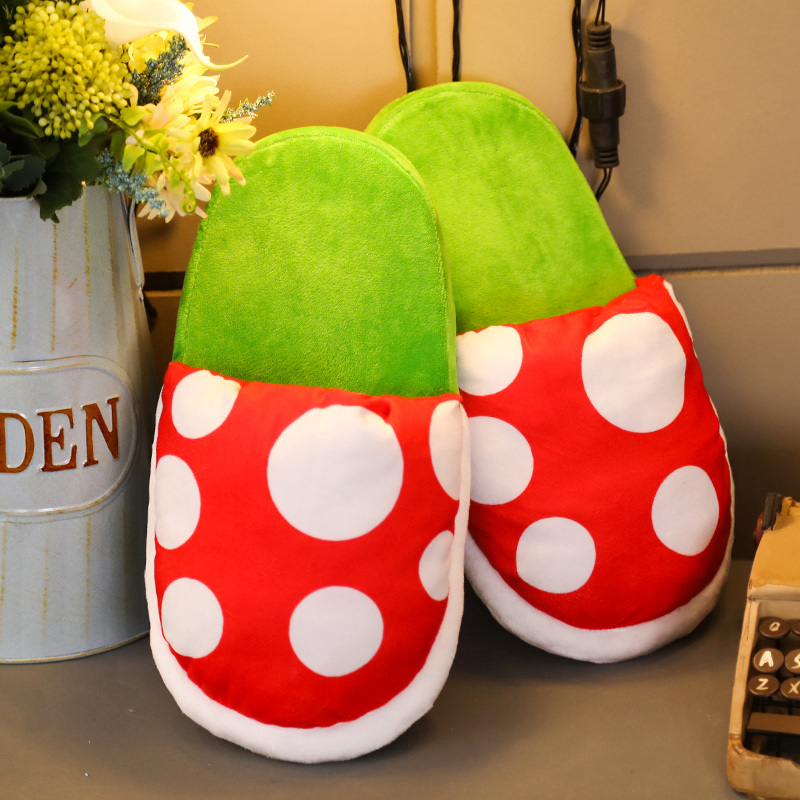 Winter Shoes Super Mario Cannibal Flower Plush Toys Women Funny Flower Cosplay Shoes Slipper Christmas Gift Doll For Girls
