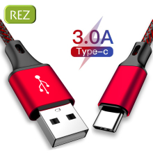 REZ USB Type C Cable to For Redmi Red Fast Charging Type-C kabel Usb Data Wire HTC LG USB-C провод кабель