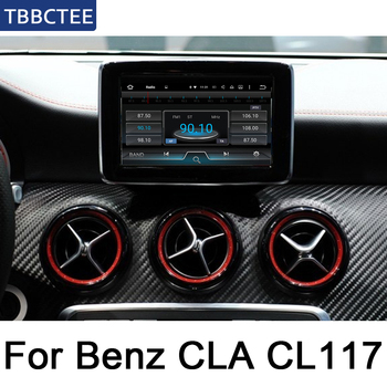 For Mercedes Benz CLA Class C117 2015 2016 2017 2018 2019 NTG Android IPS car player original Style Autoradio Navigation image
