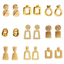 Best Selling New Fashion Simple Fashion Popular Metal Earrings Women Earrings European And American Women's Jewelry