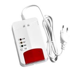Wifi czujnik gazu detektor wycieku gazu Alarm Tuya inteligentne życie App inteligentne bezpieczeństwo w domu współpracuje z Alexa Google strona główna IFTTT ue wtyczka w Czujnik i detektor od Bezpieczeństwo i ochrona na