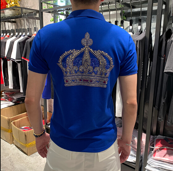 2020 Men Summer Deer Print Polo Shirt Short Sleeve Slim Fit Polos Fashion Streetwear Tops Men Shirts Sports Casual Golf Shirts