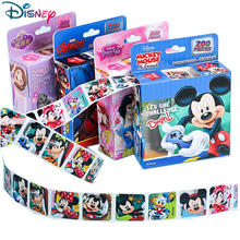 200Pcs/Box Disney Stickers Removable Cartoon Frozen Mickey Sofia Princess Sticker Kids Girl Children Teacher Reward Toys Gift