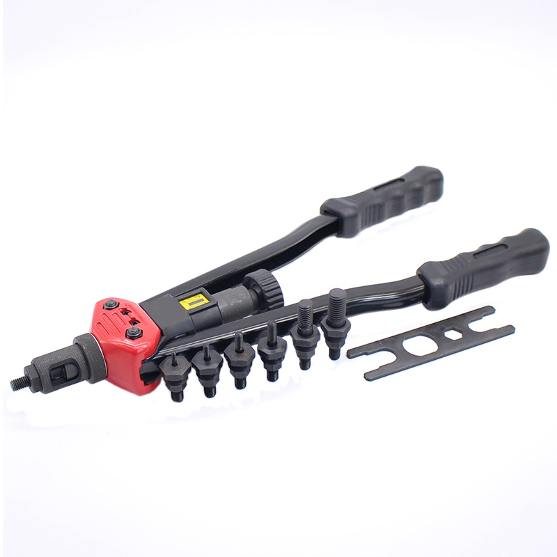 16 Inch (400Mm) Heavy Duty Double Hand Manual Riveter Hand Riveting Tool Hand Rivet Nut M3/M4/M5/M6/M8/M10/M12 Promotion