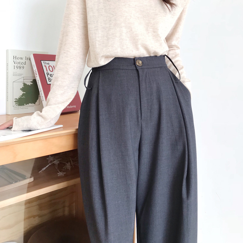 2020 NEW Autumn Women Pants Casual High Street Mid Waist hight Pants