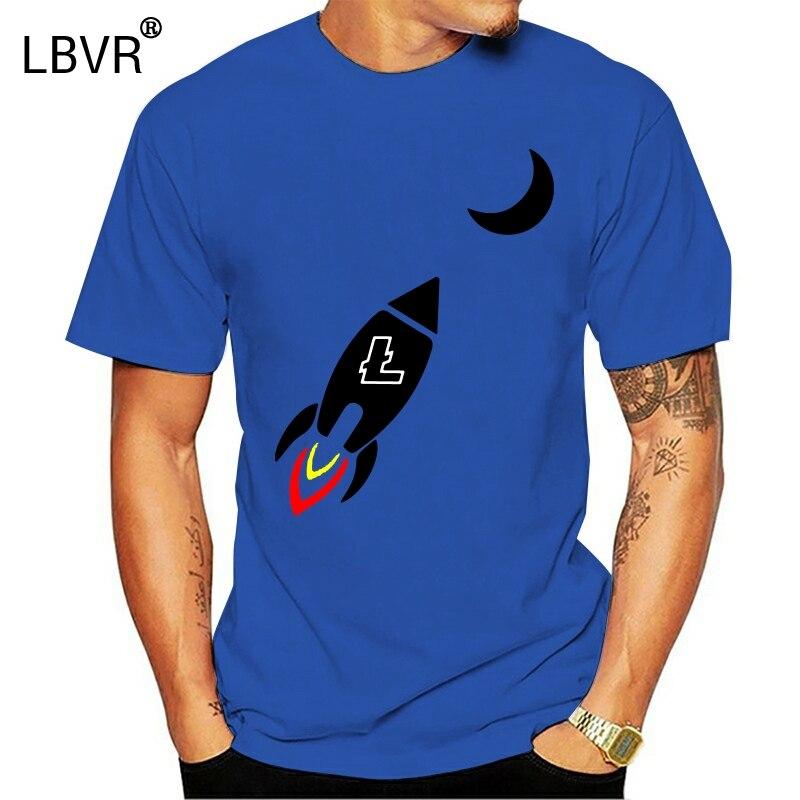 Litecoin fusée à la lune Crypto Ltc drôle t-shirt 2019 nouveaux T-Shirts hommes vêtements de haute qualité chemises
