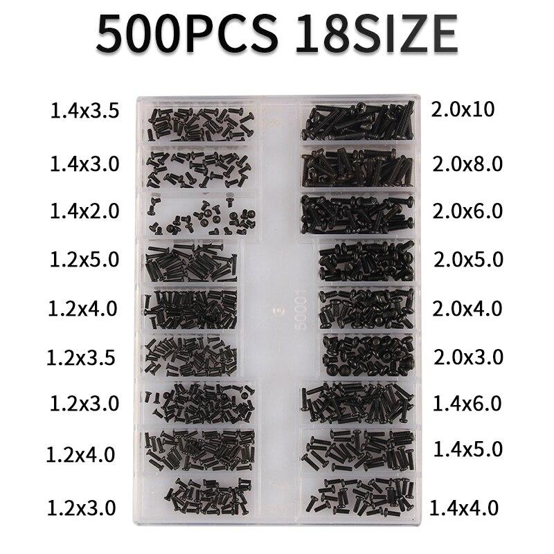 500 pçs 18 tipos de mini parafuso diy kit computador portátil montar reparação parafuso fixador conjunto