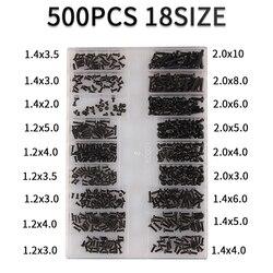 500Pcs 18 Types Mini screw DIY Kit Laptop Computer Assemble Repair Screw Fastener set