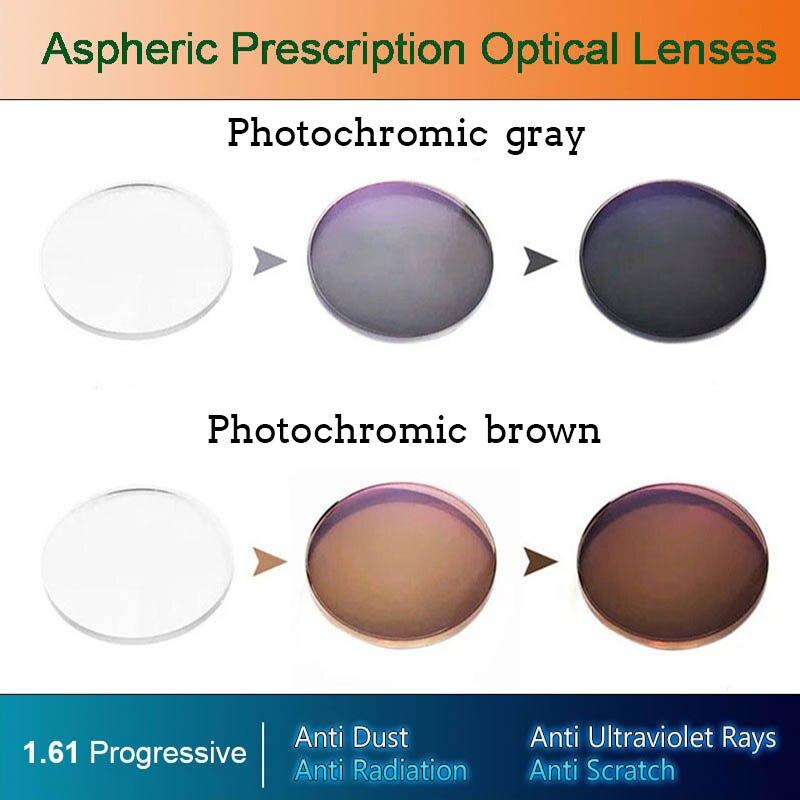 1,56 1,61 1,67 анти синий светильник фотохромные CR 39 асферические линзы по рецепту из смолы быстрое изменение цвета|Очки аксессуары|   | АлиЭкспресс