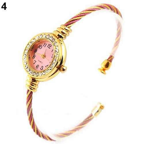 Women's Bracelet Watch Women Fashion Steel Wire Rhinestone Quartz Bracelet Bangle Wrist Watches reloj mujer relogio feminino