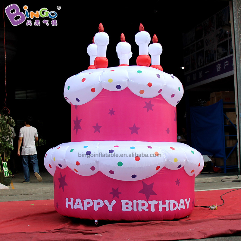 Awe Inspiring Fancy Design 2Mh Inflatable Double Cake With Candle Vivid Birthday Funny Birthday Cards Online Elaedamsfinfo