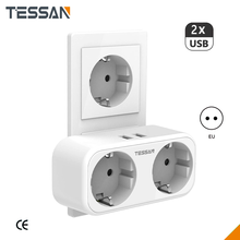 Power-Adapter Smart-Plug Wall-Socket Usb-Charging-Ports Multiple-Outlets Home with Ce