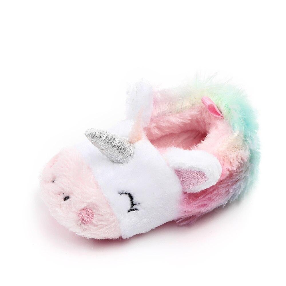 sapatos para meninas do bebe recem nascido unicornio sola macia infantil crianca primeiro walker calcados de