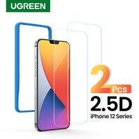 UGREEN-Protector de pantalla de teléfono para iPhone, película protectora de pantalla de vidrio templado transparente 2.5D para iPhone 12 Pro Max