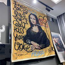 Graffiti Tapestry Blanket Art-Carpet Yoga-Mat Wall-Hanging Bedroom Bohemian Home Mona