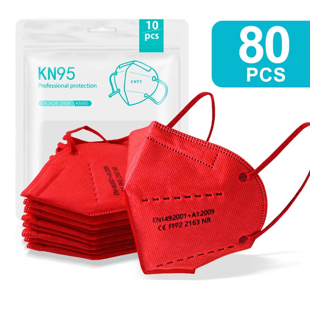 80PCS Red-KN95