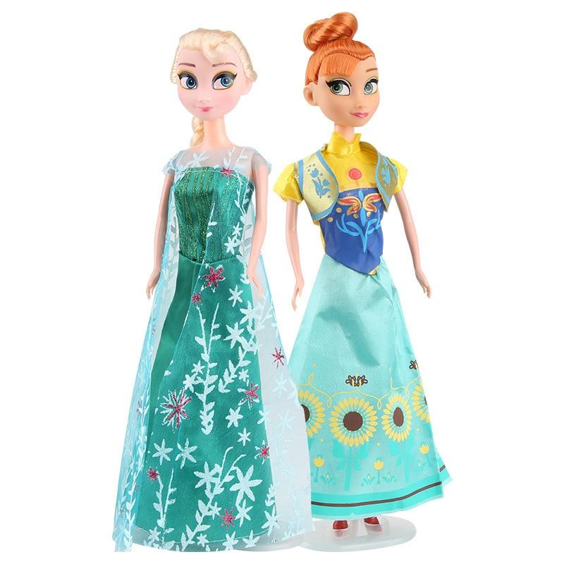 Girls Cute Frozen Elsa Anna Princess Doll Toys For Girls Kids Gift Makeup Toy Figures