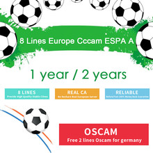 Clines cccam espa A estable for 1/2 year europe server hd lineas cccam españa spain receptor satelite cccam codigos taquilla for freesat v8 super v7 Ccam DVB-S2 HD Satellite Receiver(China)