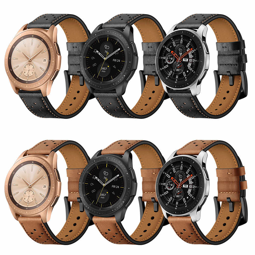 Leather Watchs Band Replacement Wrist Straps for Samsung Galaxy Watch 46mm Sport Smart Wristband SmartWatchs Accessories