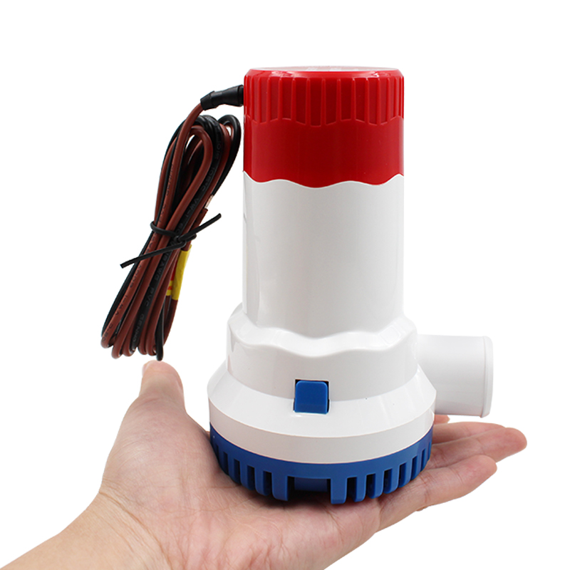 12/24V Bilge Pump High Flow Submersible Electric 1500 GPH Water Pump For Submersible Seaplane Motor Houseboat Boats Low Pressure