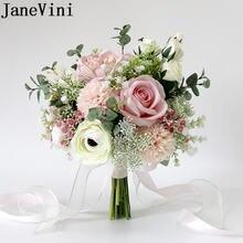 Розовые цветочные свадебные букеты jaevini 2020 романтические