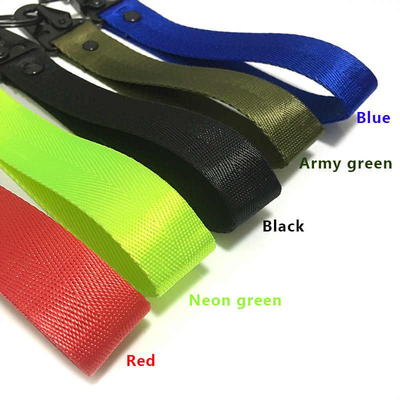Nieuwe Hand Wrist Strap met Metalen Sleutelhanger Ring Houder Lanyard Tag voor Mannen Vrouwen Geschenken Auto 'S Motorfiets Geschenken Tags sleutelhangers Houder