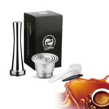 Nespresso Stainless Steel Refillable Coffee Capsule Tamper Reusable Pod Business Birthday Coffeeware Gift