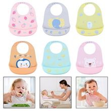 Baby Bibs Newborn Infant Food-Grade Silicone Feeding Food Catcher Pocket Waterproof Saliva Towel