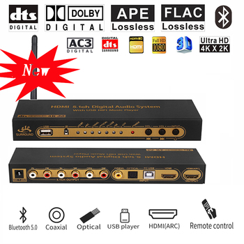 HDMI 5.1 Audio Converter Decoder DAC DTS AC3 FLAC PCUSB APE 4K*2K HDMI to HDMI Extractor Converter Splitter Digital SPDIF ARC 5 1 audio gear 2 in 1 5 1 channel ac3 dts 3 5mm audio gear digital surround sound decoder stereo l r signals decoder hd play