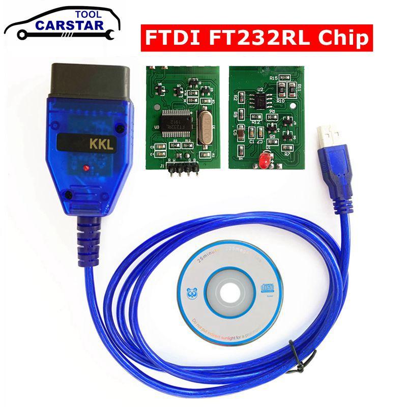 Для VAG KKL сканер инструмент для VAG-KKL 409 с FTDI FT232RL чип для vag 409 kkl OBD2 USB интерфейс диагностический кабель