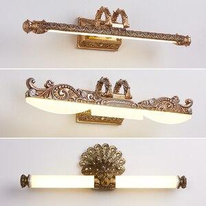 Image 1 - Iluminação de parede europeia, lâmpada para espelho de armário, banheiro americano, à prova dágua, farol retrô