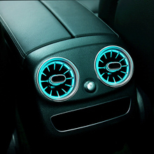 rear air conditioning turbine outlet light for mercedes benz w205 c class car rear vent Inlet ambient lights led lamp 64 colors 2 styles armrest box cover for w212 e class mercedes benz 2012 2019 rear air conditioning outlet inlet vent frame trim stickers