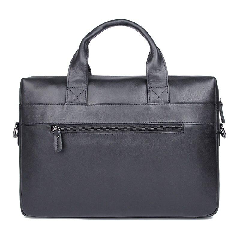 JMD винтажный кожаный мужской черный портфель сумка для ноутбука сумка мессенджер горячая Распродажа 7122A 1 - 2